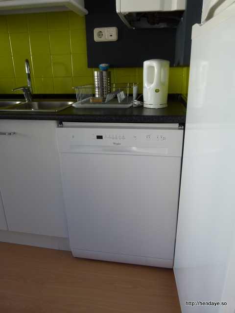 vue du lave vaisselle